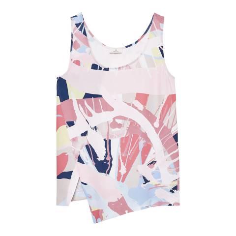 Gant Pink Asymmetric Printed Top