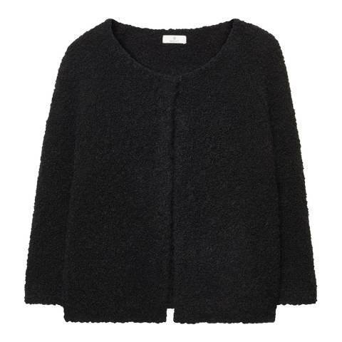 Gant Black Curly Wool Shrug