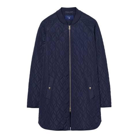 Gant Marine Blue Quilted Coat