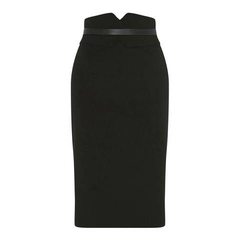 Karen Millen Black High-Waisted Pencil Skirt