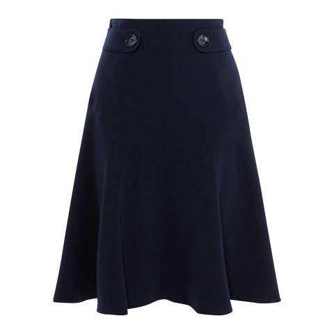 Karen Millen Navy Soft Military Skirt