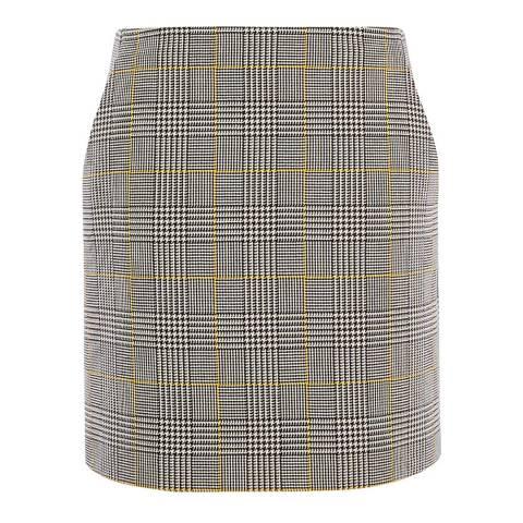 Karen Millen Black & White Check Tailored Skirt