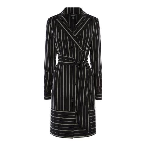 Karen Millen Black/Multi Wrap Around Shirt Dress