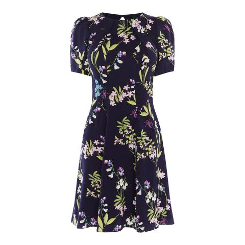 Karen Millen Multicolour Floral Print Dress