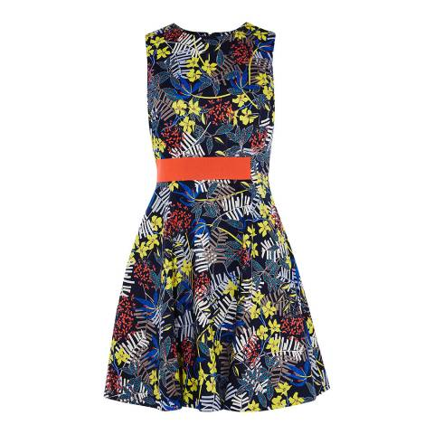 Karen Millen Multicolour Fit & Flare Floral Dress