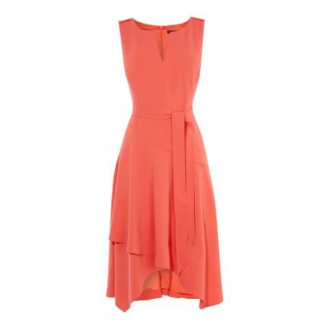 Karen Millen Coral Fluid Day Dress