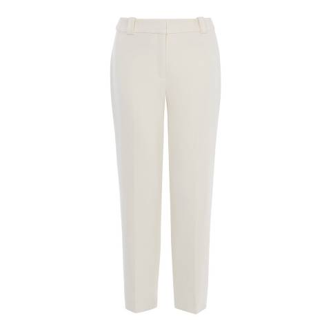 Karen Millen Ivory Slim Fit Soft Trousers