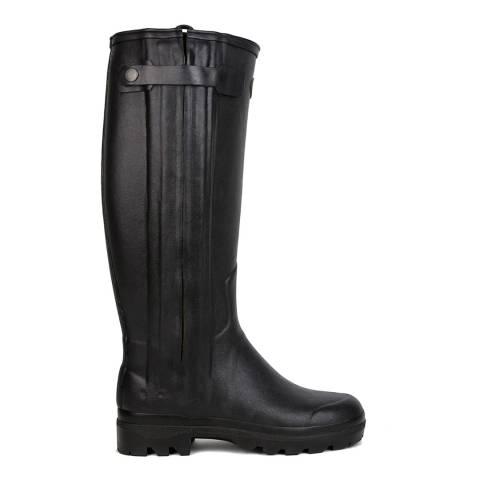 Le Chameau Women's Black Chasseur Boots