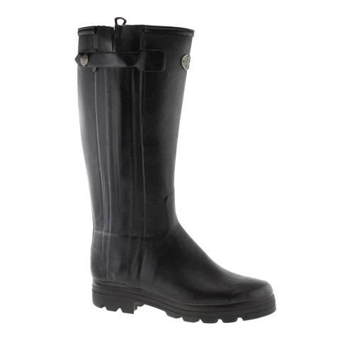 Le Chameau Men's Black Chasseur Wellington Boots (calf width 44)