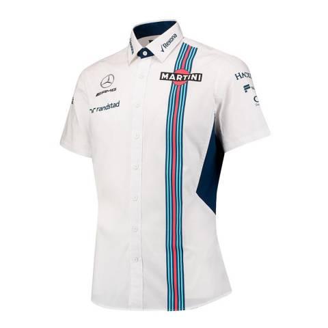 Williams Martini Racing Men's White Short Sleeve Shirt
