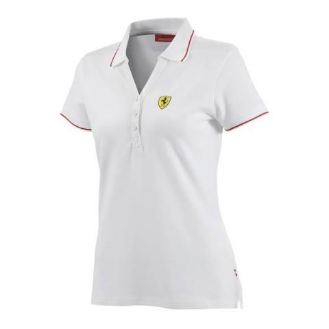 Scuderia Ferrari Women's White Classic Polo
