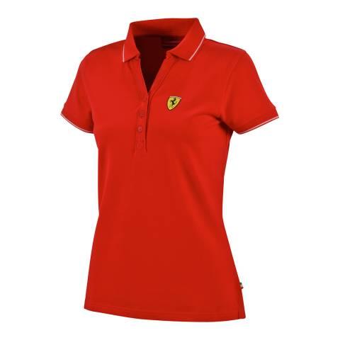 Scuderia Ferrari Women's Red Classic Polo