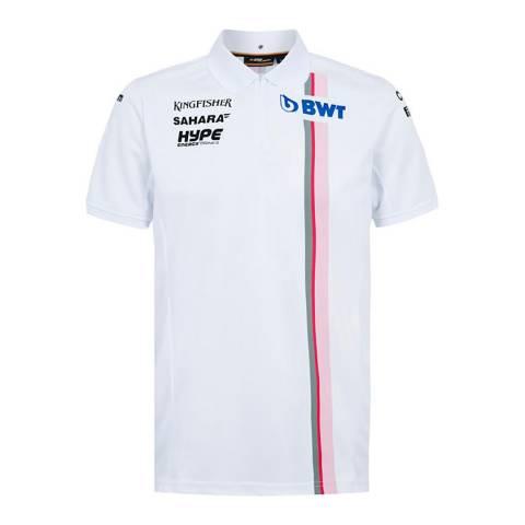 Sahara Force India Men's White Team Polo