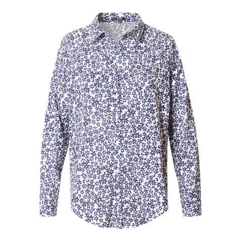 NYDJ Blue Stars Peacoat Classic Lawn Shirt