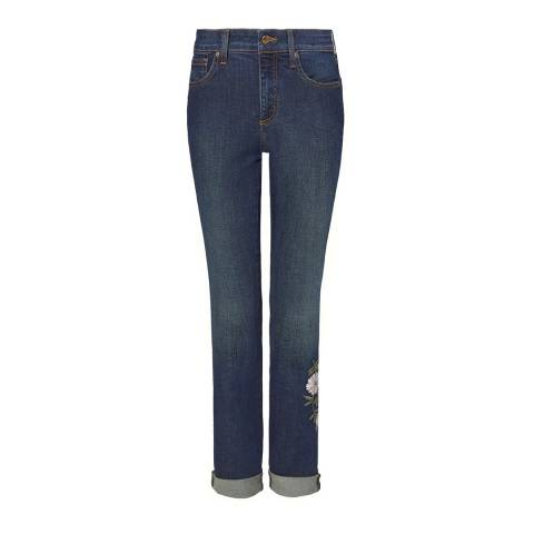 NYDJ Clean Bezel Cotton Alina Rolled Cuff Ankle Jeans