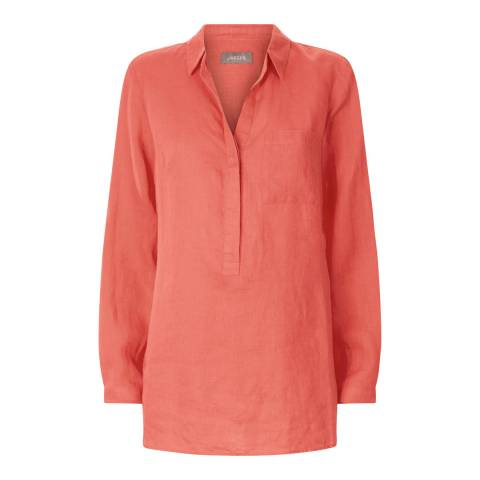 Jaeger Coral Linen Tunic