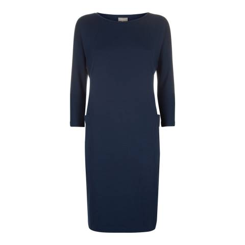 Jaeger Navy Seam Detail Dress