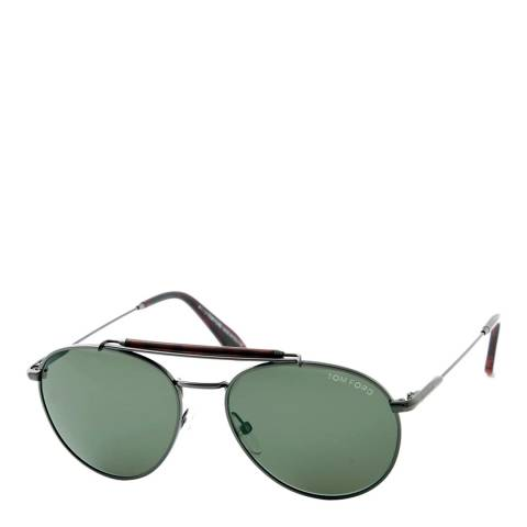 Tom Ford Women's Silver/Brown Colin Sunglasses 54mm