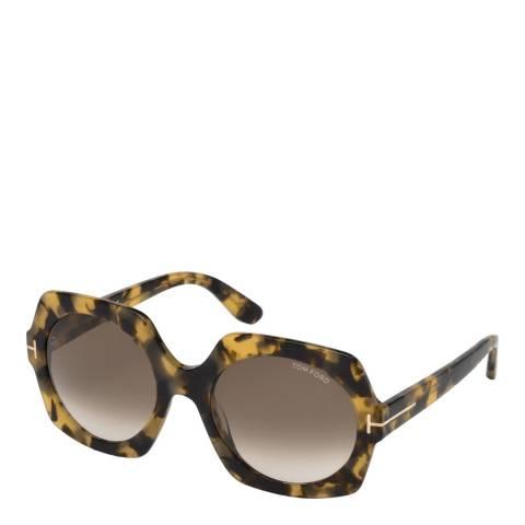 Tom Ford Women's Brown Sofia Sunglasses 57mm