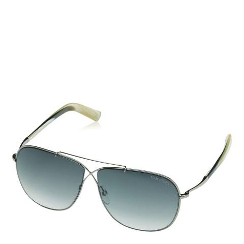 Tom Ford Women's Silver/Green April Sunglasses 61mm