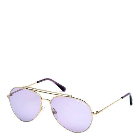 Tom Ford Women's Indiana Gold Sunglasses 60mm