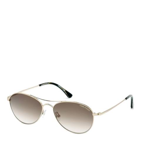 Tom Ford Unisex Rose Gold Oliver Sunglasses 56mm