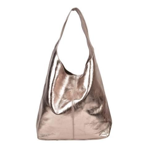 Sofia Cardoni Bronze Leather Hobo Bag