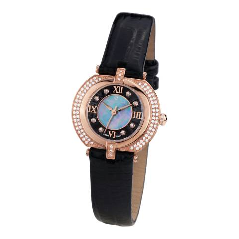 Mathieu Legrand Women's Black Damenuhr Mille Cailloux Watch