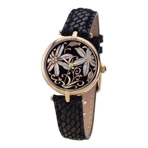 Mathieu Legrand Women's Black Damenuhr Fleurs Volantes Watch