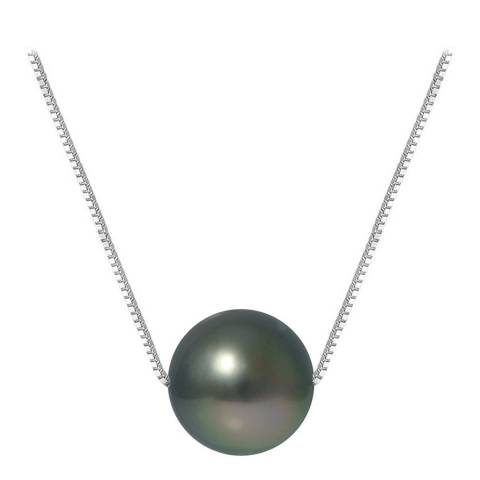 Ateliers Saint Germain Black Tahiti/Silver Pearl Venetian Link Necklace