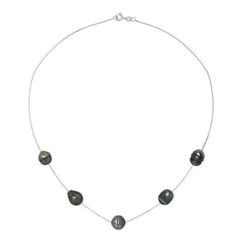 Ateliers Saint Germain Black Tahiti/Silver Pearl Link Necklace