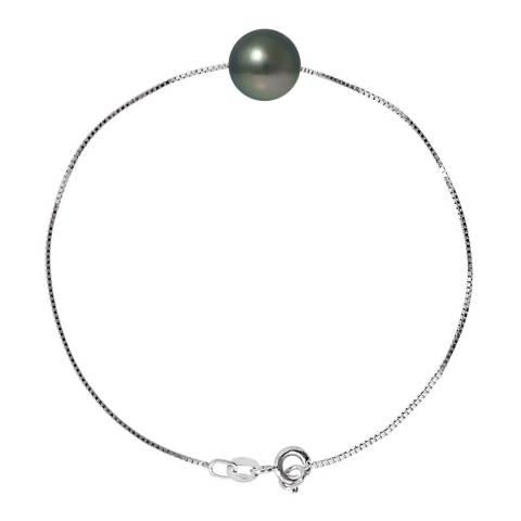 Atelier Pearls Black Tahiti Pearl Venetian Link Bracelet