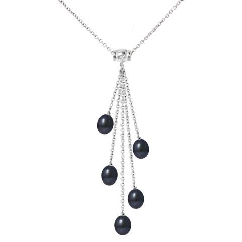 Ateliers Saint Germain Silver/Black Fireworks Link Pearl Necklace
