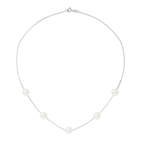 Ateliers Saint Germain Natural White/Silver Plated Fresh Water Pearl Link Necklace