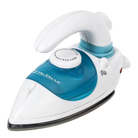 Signature White Travel Steam Iron with Non-Stick Soleplate