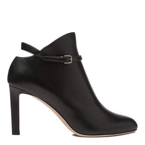 Jimmy Choo Black Shiny Smooth Leather Tor 85 Booties