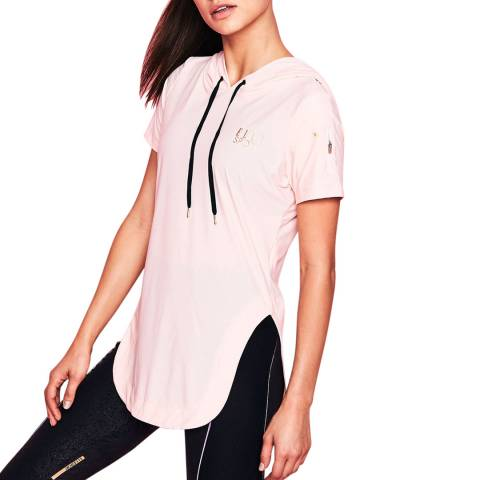 Elle Sport Pink Sports T-Shirt With Hood