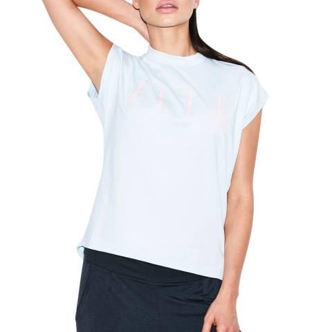 Elle Sport Blue  Studio Hi Neck T-Shirt