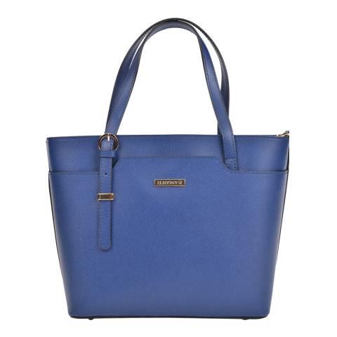 Mangotti Bags Blue Leather Shoulder Bag