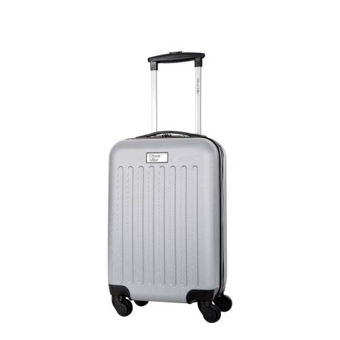 Steve Miller Silver Young 4 Wheeled Cabin Suitcase 52cm