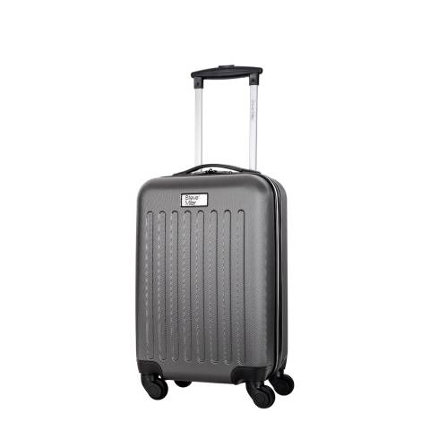 Steve Miller Grey Young 4 Wheeled Cabin Suitcase 52cm