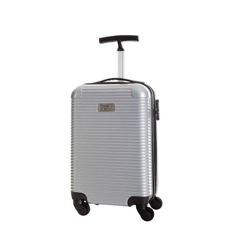 Steve Miller Silver Journey 4 Wheel Cabin Suitcase 45cm