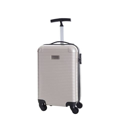 Steve Miller Beige Journey 4 Wheeled Cabin Suitcase 45cm