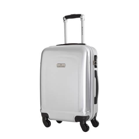 Platinium Clarks Silver 4 Wheeled Suitcase 60cm