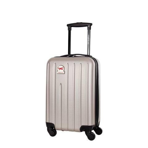 Cabine Size Beige Baltic 4 Wheeled Cabin Suitcase 45 cm