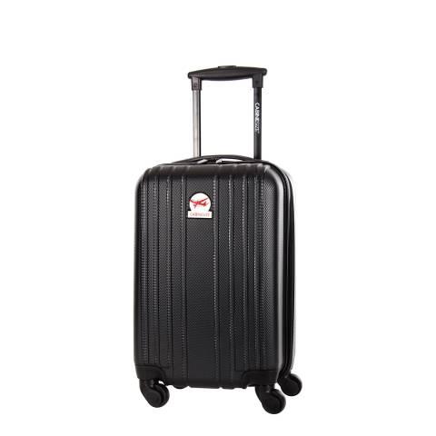 Cabine Size Black Angsana 4 Wheeled Cabin Suitcase 45 cm