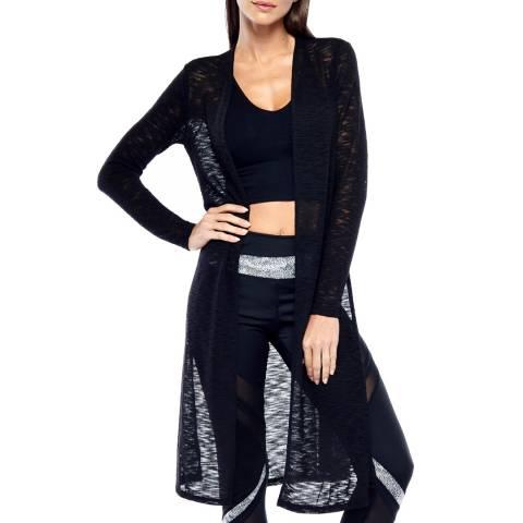Electric Yoga Black Knit Long Cardigan