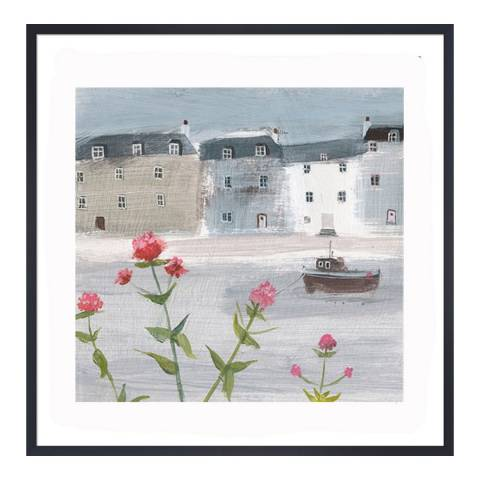 Hannah Cole Flowers on a Grey Day, 26x26cm by Hannah Cole
