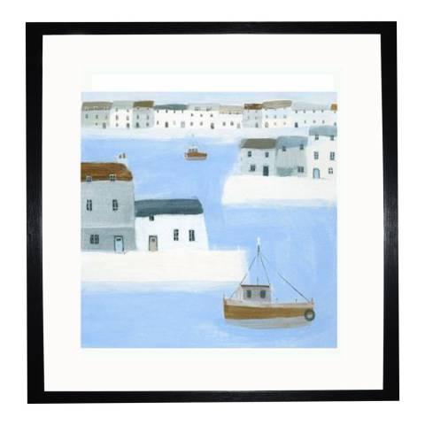 Hannah Cole Harbour Walls Framed Print, 35x35cm