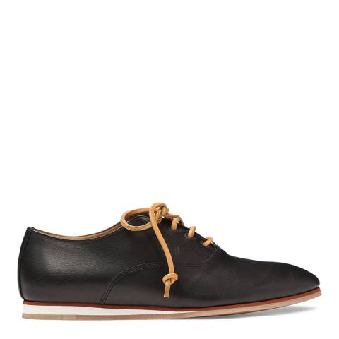 Tod's Women's Black Leather Lace Up Shoes